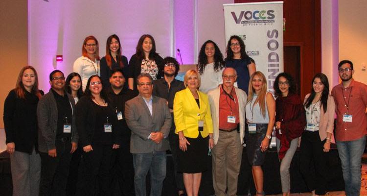 Grupo de participantes en el Taller de periodismo de salud, edición 2017, en el hotel Sheraton, del Centro de convenciones, San Juan.  Foto: Erick Medina